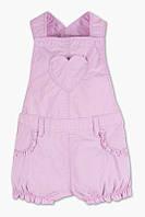 Летний полукомбинезон (Германия) шортами нежного лилового цвета для девочки 12 мес 18 мес
