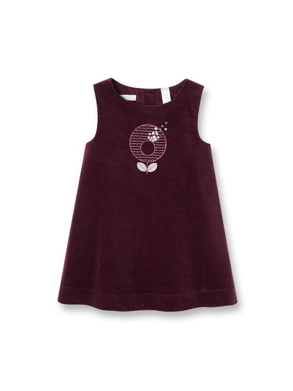 877e19e2c169927 Нарядное платье-сарафан (Франция) из мелкого вишневого вельвета для девочки  12 мес-