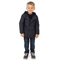 Демисезонная куртка (Франция) синего цвета с капюшоном для мальчика 3 года