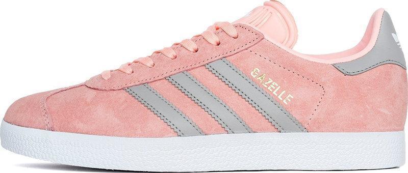 Женские кроссовки adidas Gazelle (Адидас Газели) розово-серые