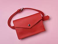 a95adcaa2a05 Женская сумка конверт на пояс красная HARVEST (женские сумки, сумка жіноча,  кросс-