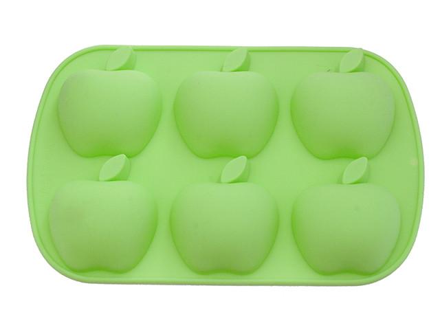 Форма 26х17.8х3см силиконовая для выпечки 6 кексов Fissman