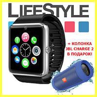 Акция! Умные часы-телефон Smart Watch А1 + Колонка JBL Charge2 и Apple Ear Pods в Подарок!