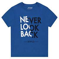 Футболка (Франция) летняя с модным принтом Never Look Back для мальчика 8, 10, 12 лет