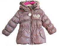 Зимняя куртка-пуховик (Франция) с капюшоном натуральный пух для девочки 18 мес