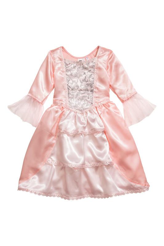 73af1a4f91c30fd Карнавальное платье (H&M, Швеция) «Принцесса» для девочки розовое ниже  колена размер