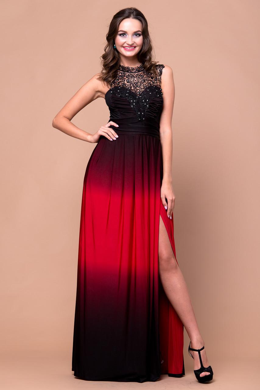 ca398d36385 Длинное Вечернее Платье с Ажурной Вставкой — в Категории