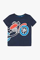 Модная футболка (Германия) с коротким рукавом для мальчика с принтом мотоцикла 7 р, 8 р