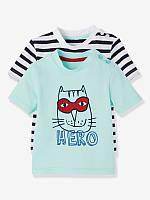 Комплект из двух брендовых футболок с веселым принтом Нero (Франция) размеры 9 мес -12 мес- 18 мес- 24 мес
