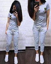 "Повседневный летний костюм ""Стрекоза"", футболка и брюки 7/8 размеры от S до XXL, фото 2"