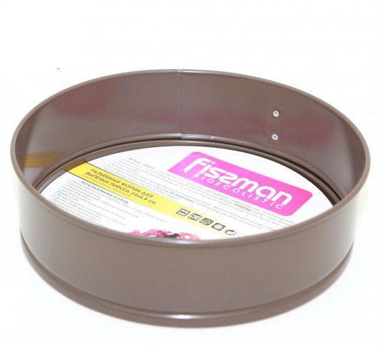 Разъемная форма 24х6.8см из нержавеющей стали для выпекания Fissman