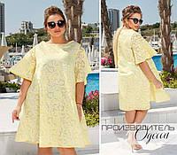 Женское платье ткань лен органза (размеры 50-56)00-63131 2c43cb686f3ee