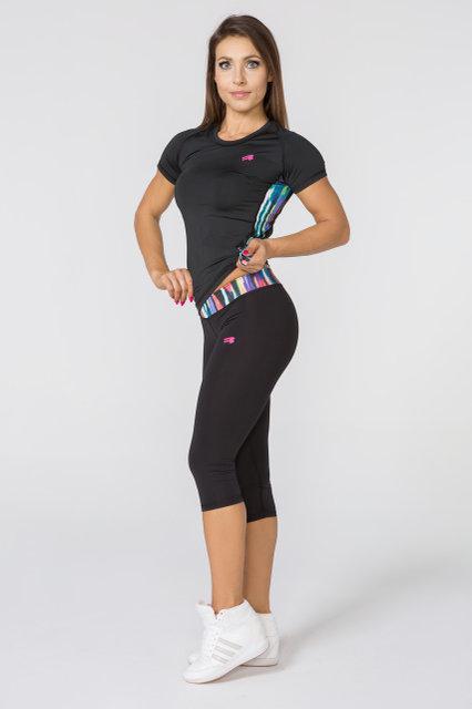 Спортивные женские лосины Radical Reaction 3/4, компрессионные легинсы для бега, велоезды, фитнеса и йоги