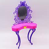 Столик з дзеркалом і стілець (аксесуари для ляльок), фото 4
