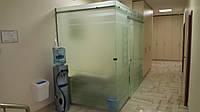 Стеклянная матовая перегородка с раздвижной дверью , фото 1