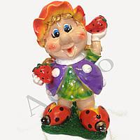 Садовая фигура Девочка с клубникой  41 см