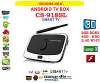 CS918-SL Android tv 4ядра 2гб DDR3 LAN USB AV-out пульт CAMERA+MIC+НАСТРОЙКИ I-SMART