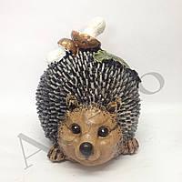 Садовая фигура Ежик Круглый с грибами