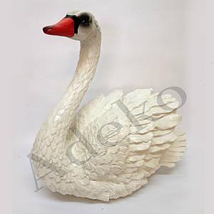 Садовая фигура Лебедь белый 38 см