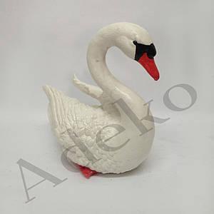 Садовая фигура Лебедь белый маленький 23 см
