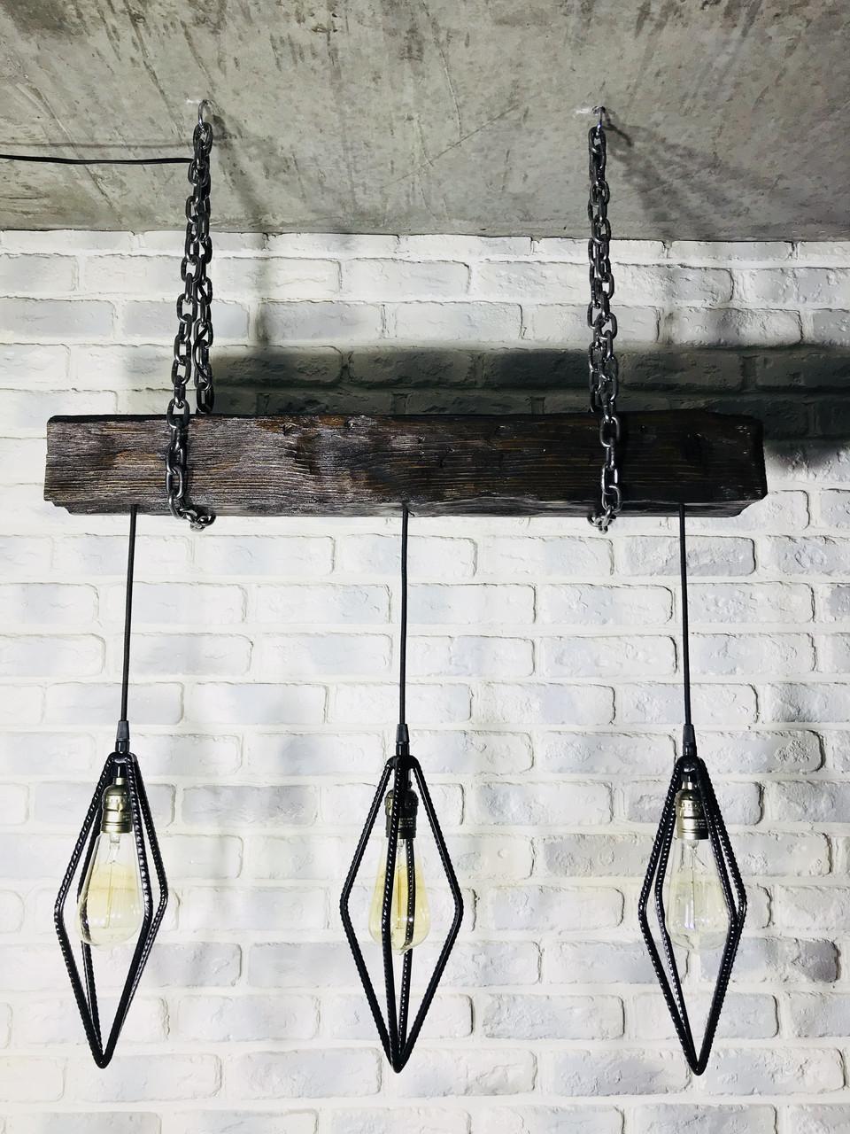 Подвесной светильник бревно в стиле Лофт