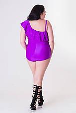 Сиреневый большой купальник для полных Ким, фото 3