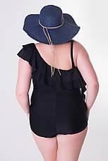 Черный слитный купальник больших размеров Ким, фото 2