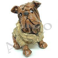 Копилка Пес в свитере 21 см