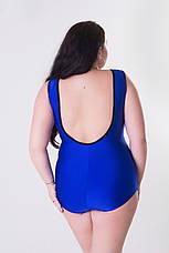 Синій злитий купальник великих розмірів Сінді, фото 2