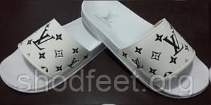 Женские шлепанцы Louis Vuitton White Black