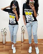 Костюм, футболка со змейкой сзади и брюки 7/8, размеры от 42 до 50, фото 2