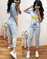 Костюм, футболка со змейкой сзади и брюки 7/8, размеры от 42 до 50, фото 3