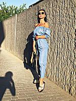 Жіночий річний джинсовий комбінезон Summer \ блакитний, фото 1