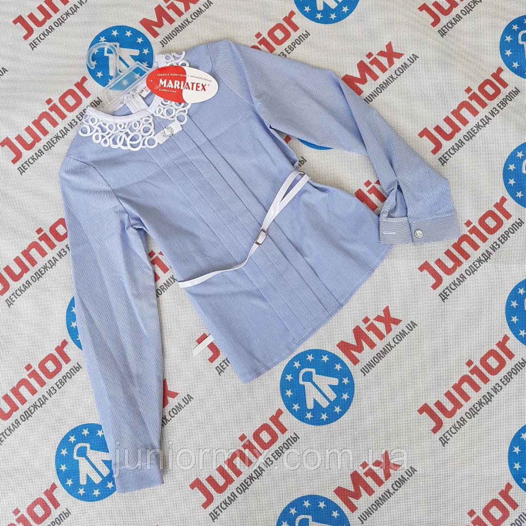 Нарядная детская блузка для девочек под пояс MARIATEX
