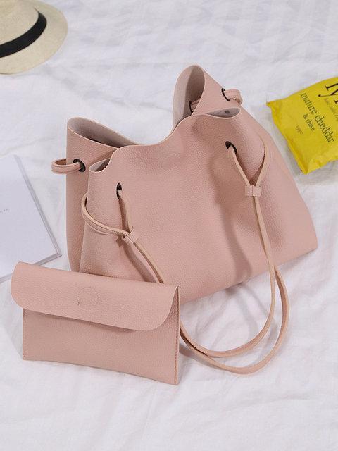 Большая женская розовая сумка