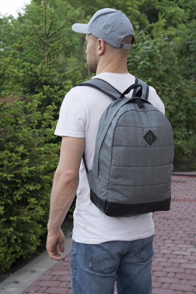рюкзак городской серый
