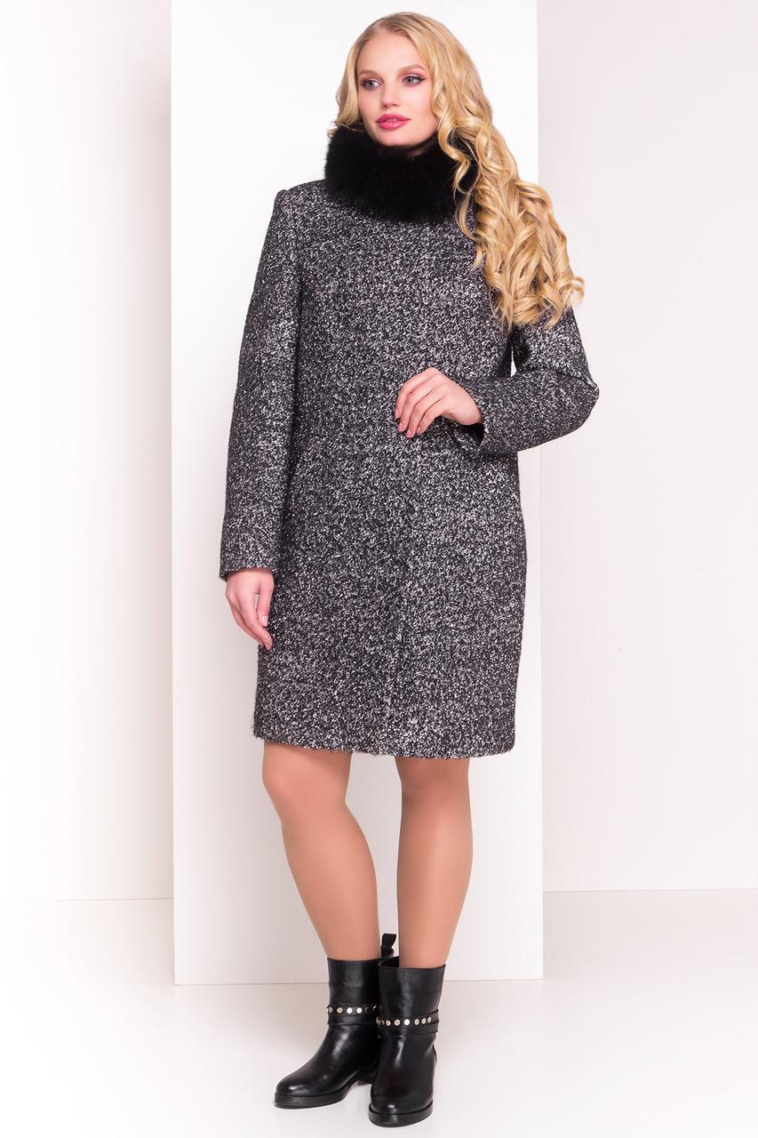"Modus Пальто ""Фортуна лайт Donna букле крупное зима песец"""
