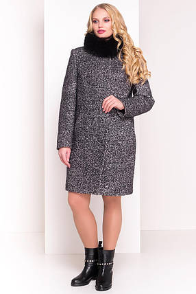 "Modus Пальто ""Фортуна лайт Donna букле крупное зима песец"" , фото 2"