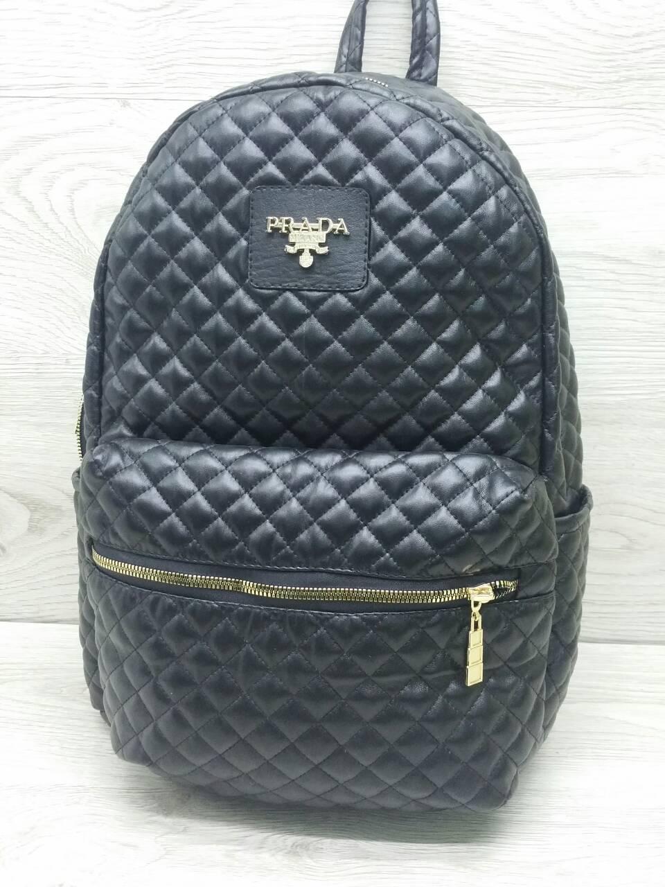 Молодёжный женский рюкзак кожзам стёганый