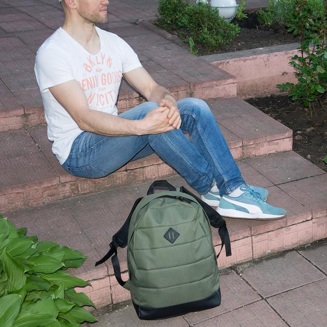 рюкзак мужской зеленый