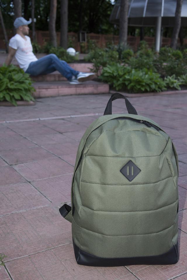 зеленый городской рюкзак