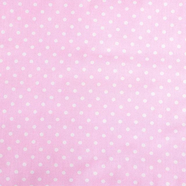 Простынь на резинке в детскую коляску BabySoon хлопок Розовая в мелкий горошек 80х40 см