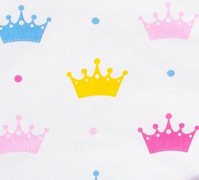 Простынь на резинке в детскую коляску BabySoon хлопок Короны 80х40 см