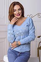 Женский свитер «Манго», в расцветках. ЕД-2-0518
