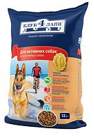 Корм для собак Клуб 4 лапы для активных собак 12 кг