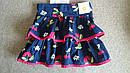 Поплиновая синяя юбка с вишенками (внутри трикотажные шортики) (Размер 3Т) Gymboree (США), фото 2