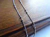 Серебряная родированная цепочка, фото 1