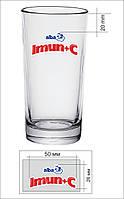 Нанесение логотипа на стаканы, стопки