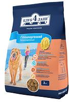 Корм для собак Клуб 4 лапы  ягненок с рисом, свежее мясо (гипоаллергенн) 3 кг