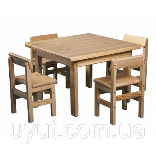 Дитячий столик і стілець (сосна)